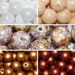 Perle Rotonde Vetro Di Boemia