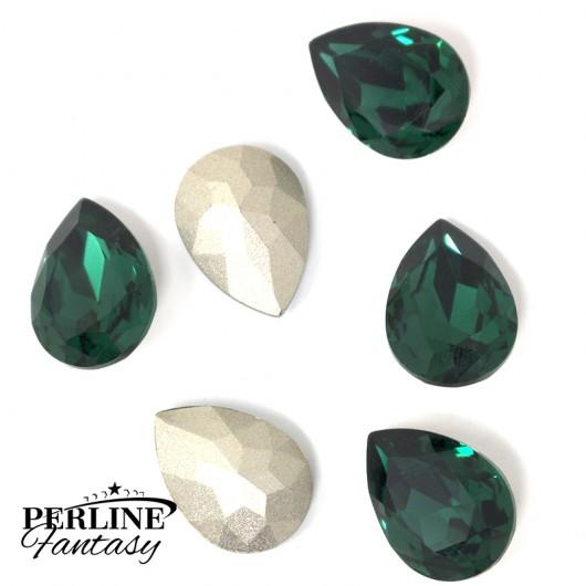 Cristallo Goccia Vetro 18 x 13 Mm - Emerald