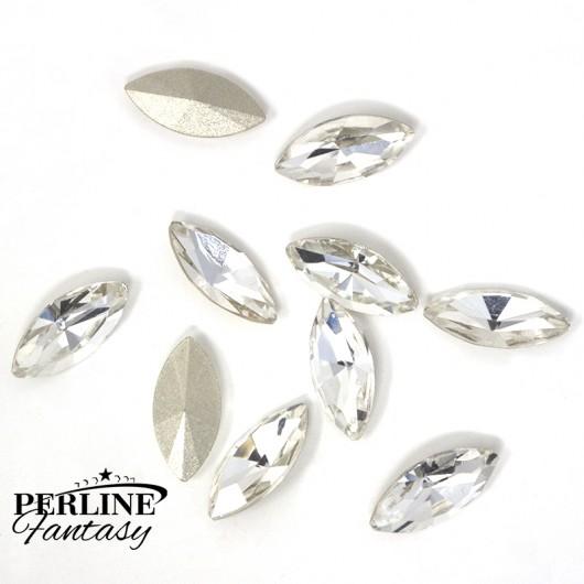 Cristallo Navetta Vetro 15 x 7 Mm - Crystal