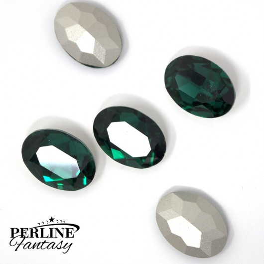 Cristallo Ovale Vetro 18 x 13 Mm - Emerald