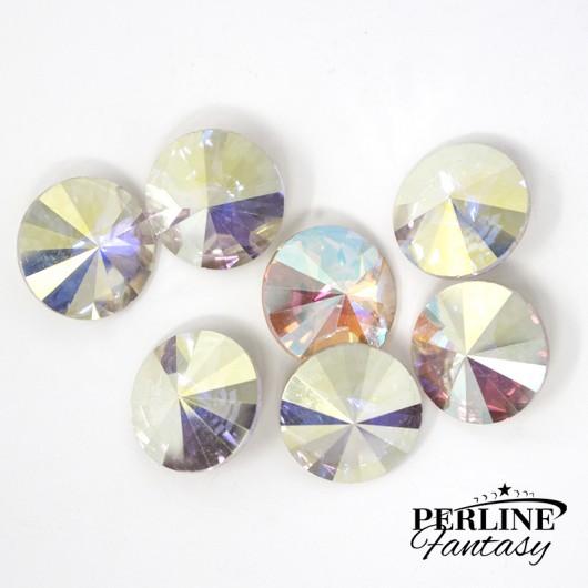 Rivoli 14 Mm Vetro - Crystal AB X 2
