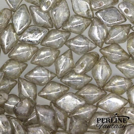 Perline Gemduo Crystal Gleam White Glaze