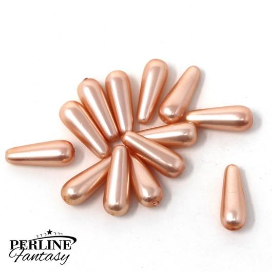 Confezione Risparmio - Gocce 16 x 6 Mm Rose Peach Pearl