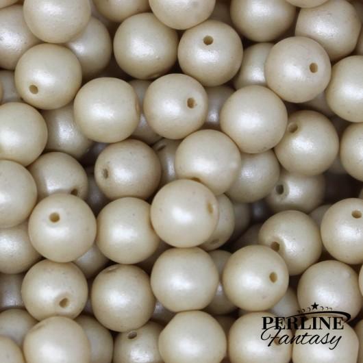 Perle Tonde Vetro Di Boemia 4 Mm Powdery Beige