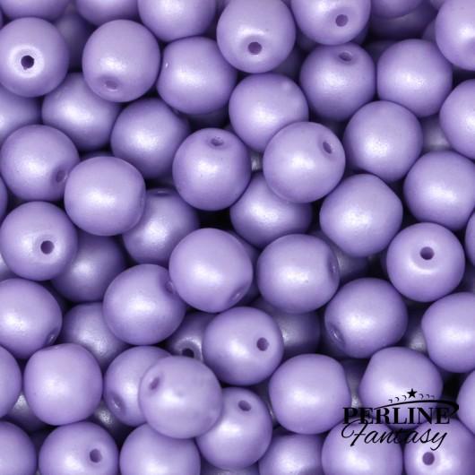 Perle Tonde Vetro Di Boemia 4 Mm Powdery Pastel Purple
