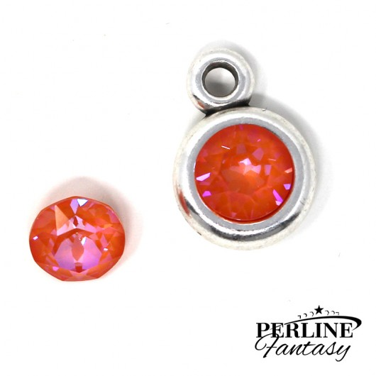 Chaton (1088) Swarovski Crystal Orange Glow DeLite SS39