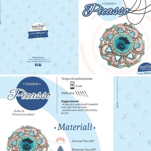 Schema Illustrativo Ciondolo ''Picasso'' di Sara ''Il fiore di loto Bijoux''