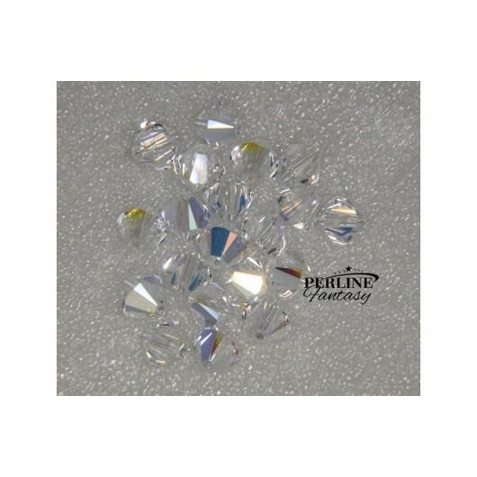 Biconi Swarovski 4 mm Crystal AB