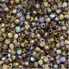Mezzi Cristalli 3 Mm Crystal Etched Glittery Amber