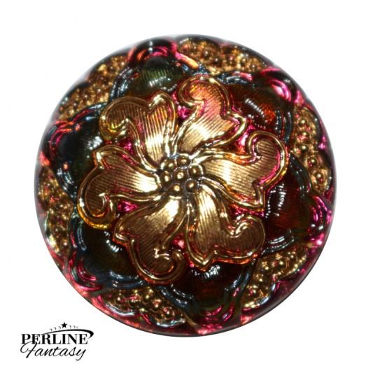 Bottoni Vetro di Boemia Crystal Vitrail / Gold