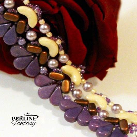 Kit Bracciale ''Amour'' Versione Amethyst  And Copper