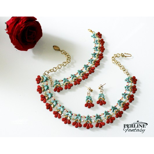 Kit Collier ''Amour'' Versione Red And Green