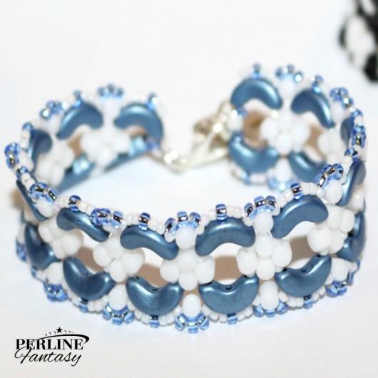 Kit Bracciale ''Julia'' Versione ''Metallic Mat Blue  and White''