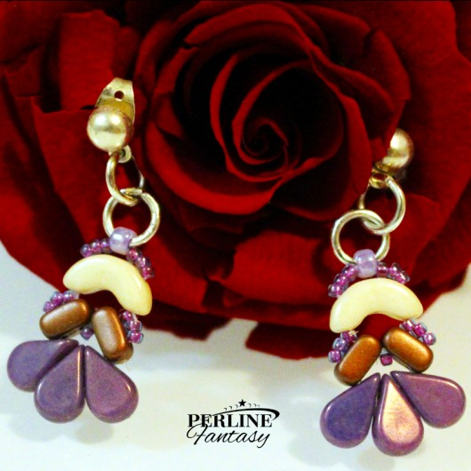Kit Orecchini ''Amour'' Versione Amethyst  And Copper