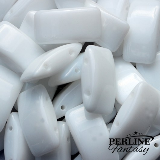 Perline Carrier Opaque White 17 x 9 Mm