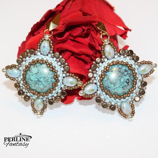 Kit Orecchini ''Sati'' Versione Bronze And Turquoise