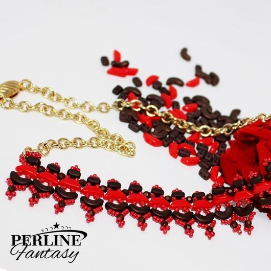 Kit Collana ''Esmeralda'' Versione Bronze And Red