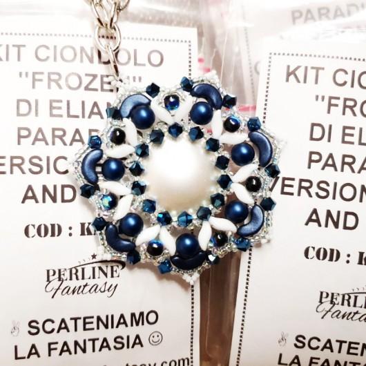 Kit Ciondolo ''Frozen'' di Eliana Paradiso Versione Blue And White