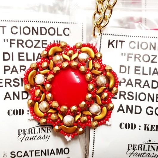 Kit Ciondolo ''Frozen'' di Eliana Paradiso Versione  Red And Gold
