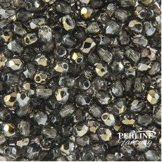 Mezzi Cristalli Sfaccettato Bronze Iris Black Diamond 3 mm